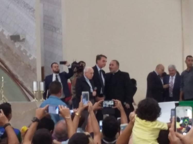 Presidente Jair Bolsonaro no Santuário Pai das Misericórdias